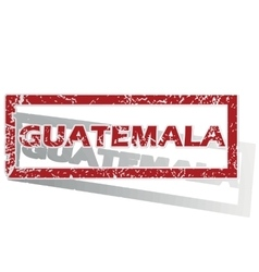Guatemala outlined stamp vector