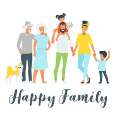 happy family members vector image