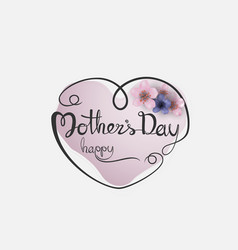 Happy mothers day calligraphy background with vector