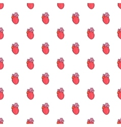 Heart human pattern cartoon style vector