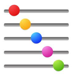 horizontal adjust bars sliders vector image