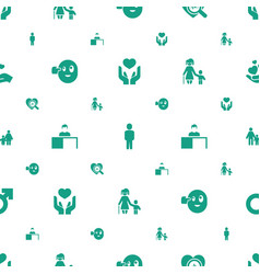 human icons pattern seamless white background vector image