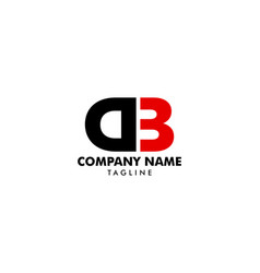initial letter db logo template design vector image
