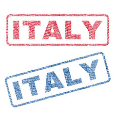 Italy textile stamps vector