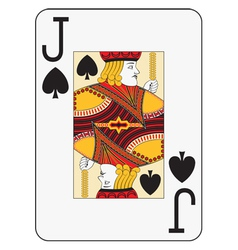 Jumbo index jack of spades vector