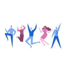 jumping business people happy people flat style vector image
