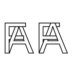 Logo sign fa af icon sign interlaced letters a f vector