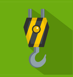 Machinery hook icon flat style vector