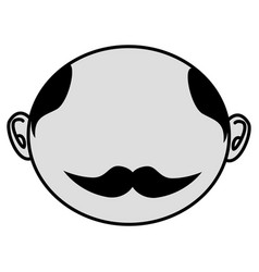 man asian face icon vector image