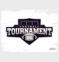 modern professional american football logo vector image