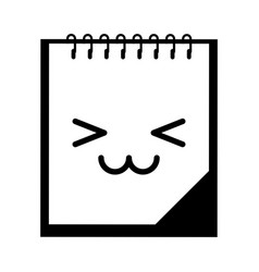 Note book kawaii character vector