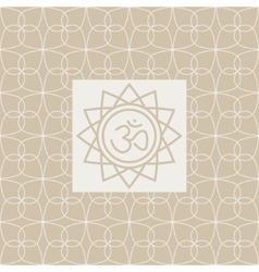 Om In Frame Yoga Studio Design Card vector
