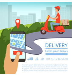 Order delivery online shipment tracking system vector