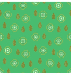 Pattern with stylized sakura flowers vector image