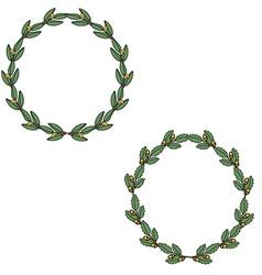 Round wreaths vector image
