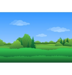 Seamless background summer landscape vector