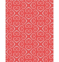 Seamless lace pattern Vintage curled texture vector image