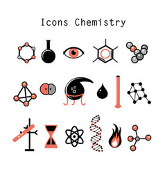 set chemical elements vector image