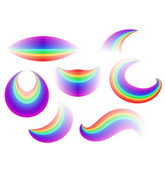 Set of different forms of the rainbow vector
