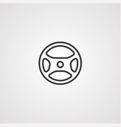 steering wheel icon sign symbol vector image