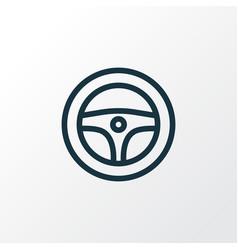 Steering wheel outline symbol premium quality vector