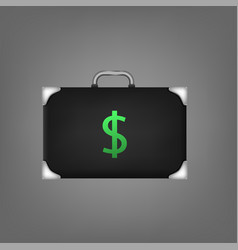 suitcase with dollar sign vector image vector image
