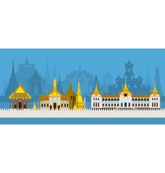 Thailand Royal Temple and Grand Palace vector