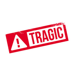 tragic rubber stamp vector image