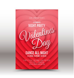Valentines day night party flayer vector
