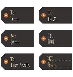 Vintage Christmas gift tags vector image