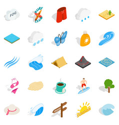 Water things icons set isometric style vector