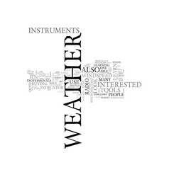 Weather instruments the tools you need text word vector