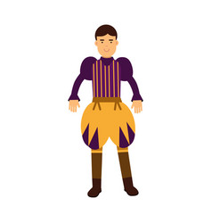 young prince in a historical costume fairytale or vector image