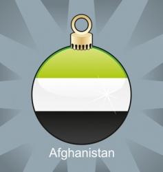 Afghanistan flag on bulb vector image