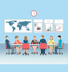 business meeting conceptual vector image