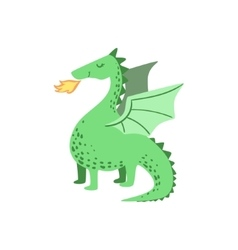 Fairytale Dragon Drawing vector image vector image