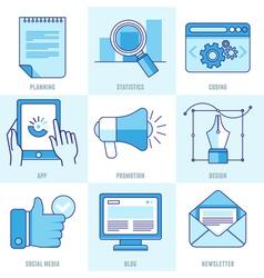 internet business infographic design elements vector image