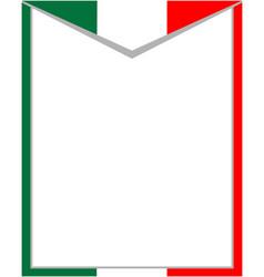 italian abstract flag frame vector image