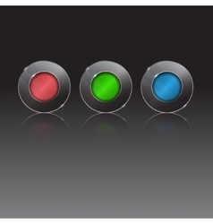 Set of colorful 3d buttons vector image