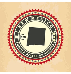 Vintage label-sticker cards of New Mexico vector image vector image