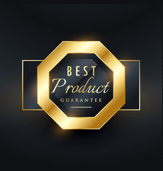 best product guarantee golden seal label design vector image vector image