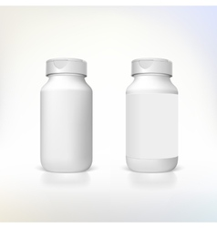 Bottle for dietary supplements and medicines vector image