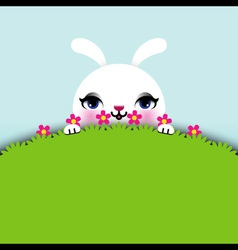 Easter Bunny Sitting in Grass vector image