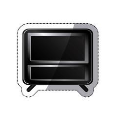 sticker black box empty screen alarm clock vector image