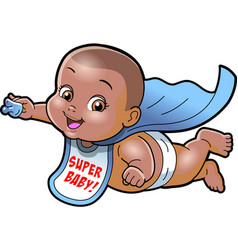 super baby african american cartoon clipart ai vector image