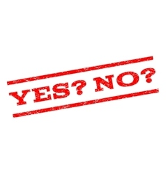 Yes Question No Question Watermark Stamp vector image vector image