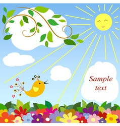 beautiful day vector image