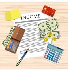 income payment design vector image vector image