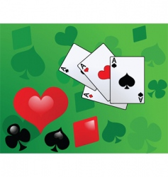 playing card with aces vector image