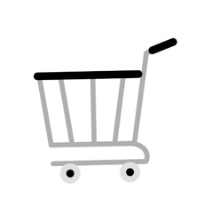 shopping cart online delivery market gray color vector image